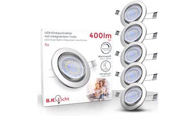 B.K.Licht LED Einbauleuchte, GU10, 5 St., Warmweiß, LED Einbaustrahler dimmbar ohne... kaufen