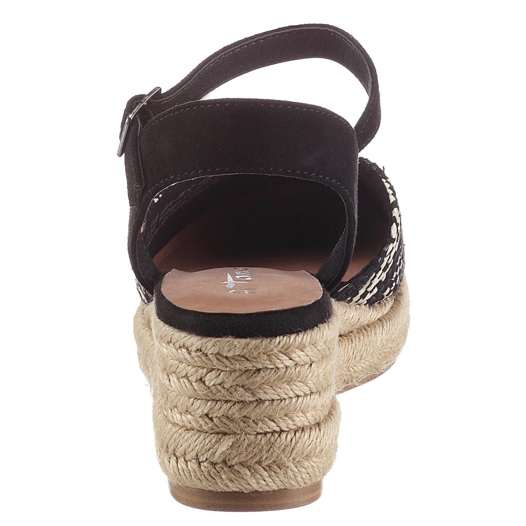 Tamaris Keilsandalette »ORIANA«, mit Ethno-Muster