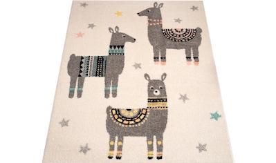 Kinderteppich, »Lama Friends«, Zala Living, rechteckig, Höhe 8 mm, maschinell gewebt kaufen