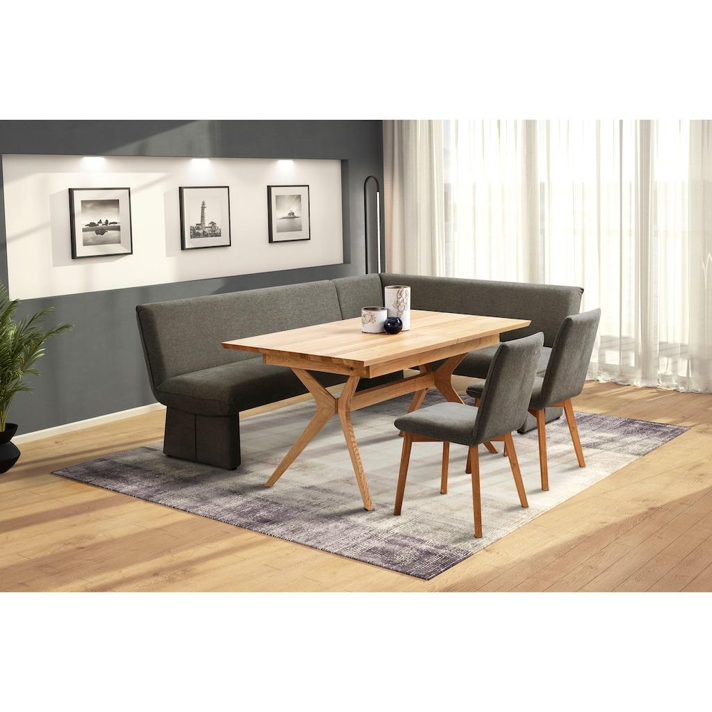 Premium collection by Home affaire Esszimmerstuhl »London«, in verschiedenen Qualitäten, Gestell aus Eiche Massivholz