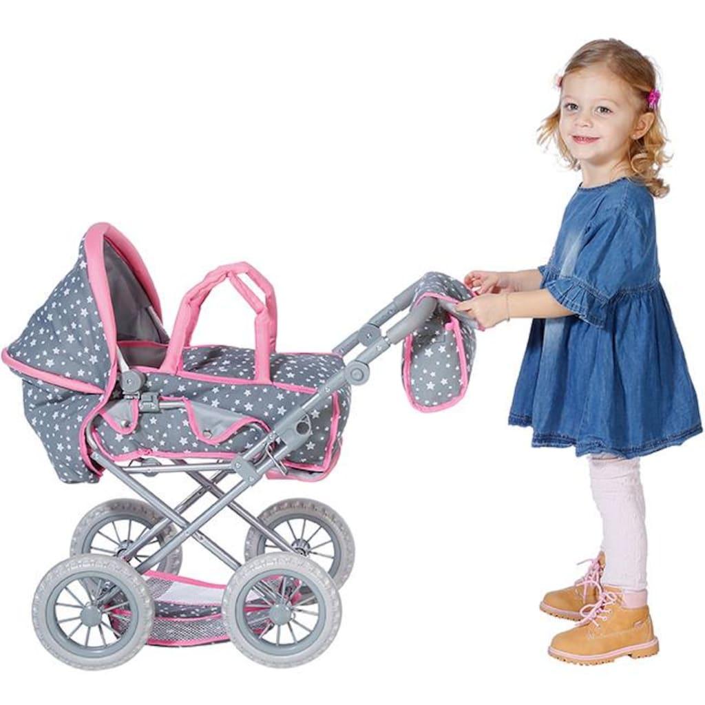 Knorrtoys® Kombi-Puppenwagen »Ruby - Star Grey«