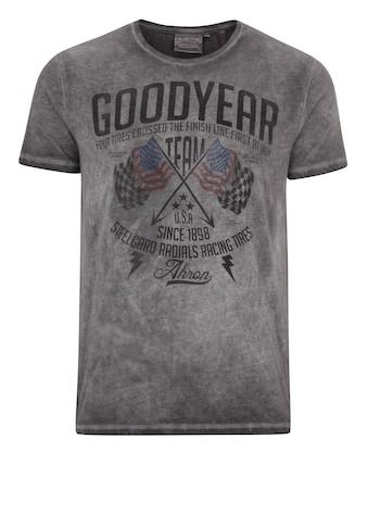 Goodyear T-Shirt »FERNALD«, im lässigen Washed-Out-Look kaufen