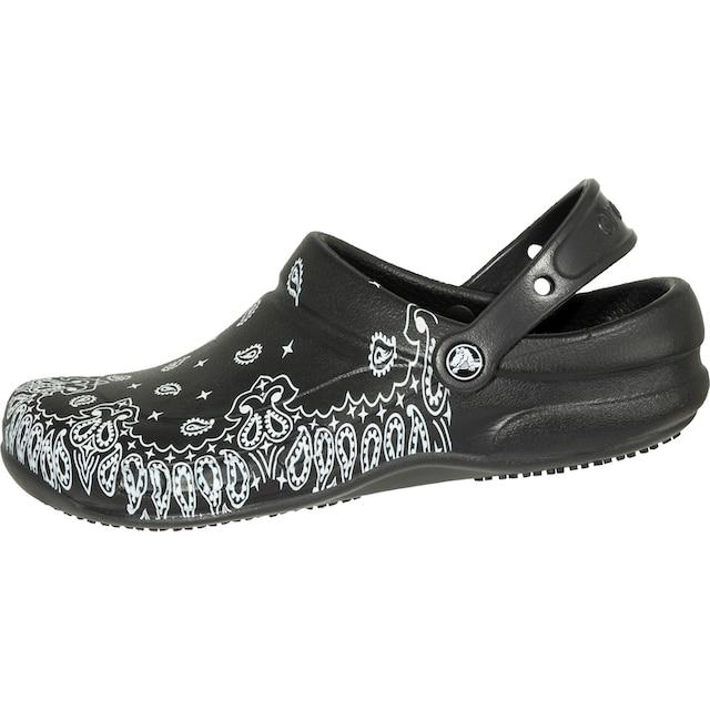 Crocs Clogs »Bistro Graphic Clog schwarz/weiß«, rutschfest