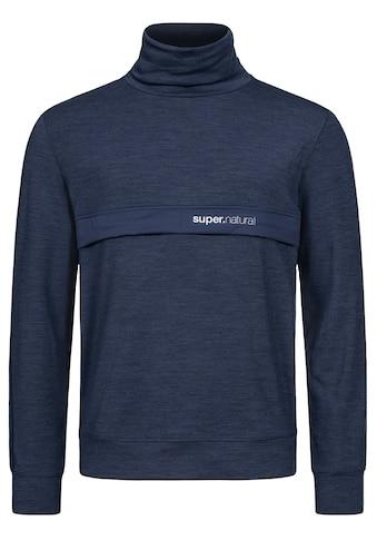 SUPER.NATURAL Sweatshirt »M ALPINE TURTLE«, versteckte Reißverschlusstaschen auf Brusthöhe, atmungsaktiver Merino-Materialmix kaufen