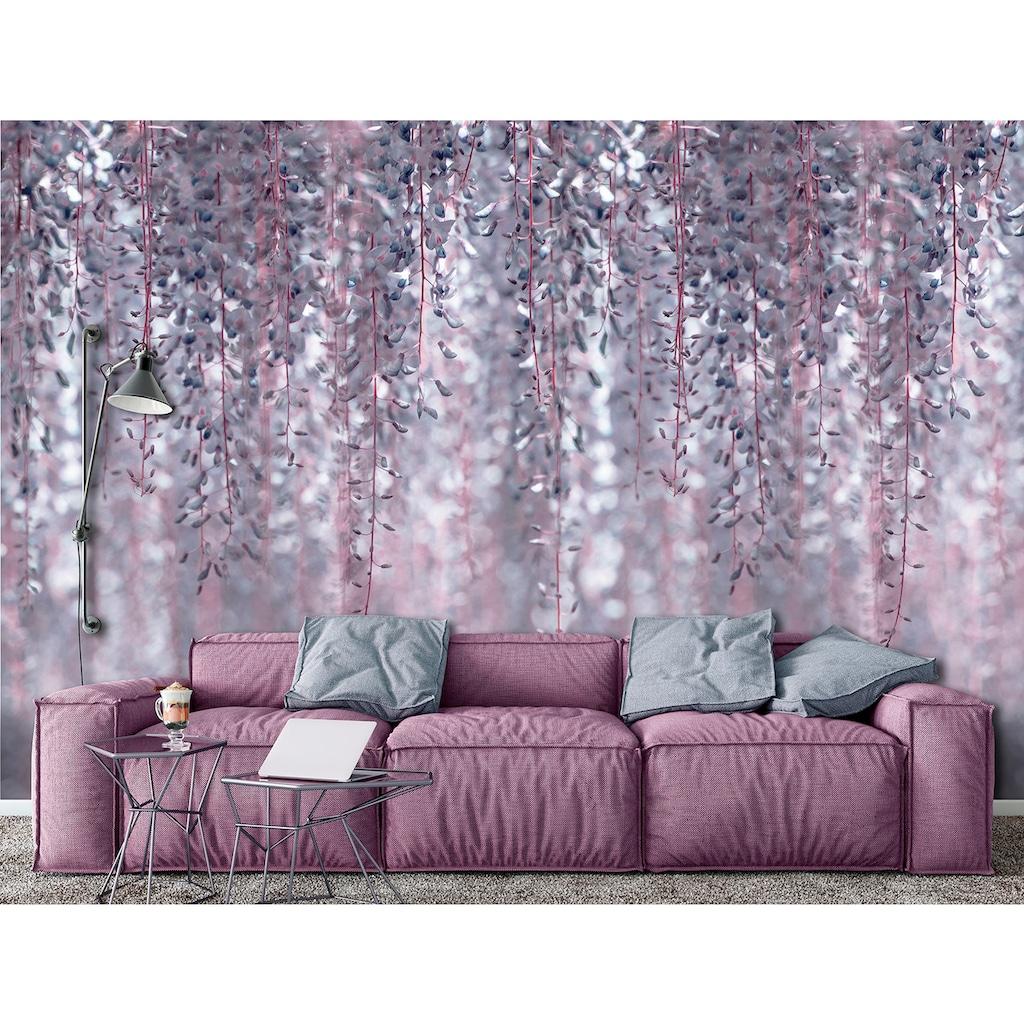 Consalnet Vliestapete »Hängende rosa Pflanzen«, floral