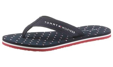 TOMMY HILFIGER Zehentrenner »TH MINI FLAGS BEACH SANDAL«, mit gepunkteter Decksohle kaufen