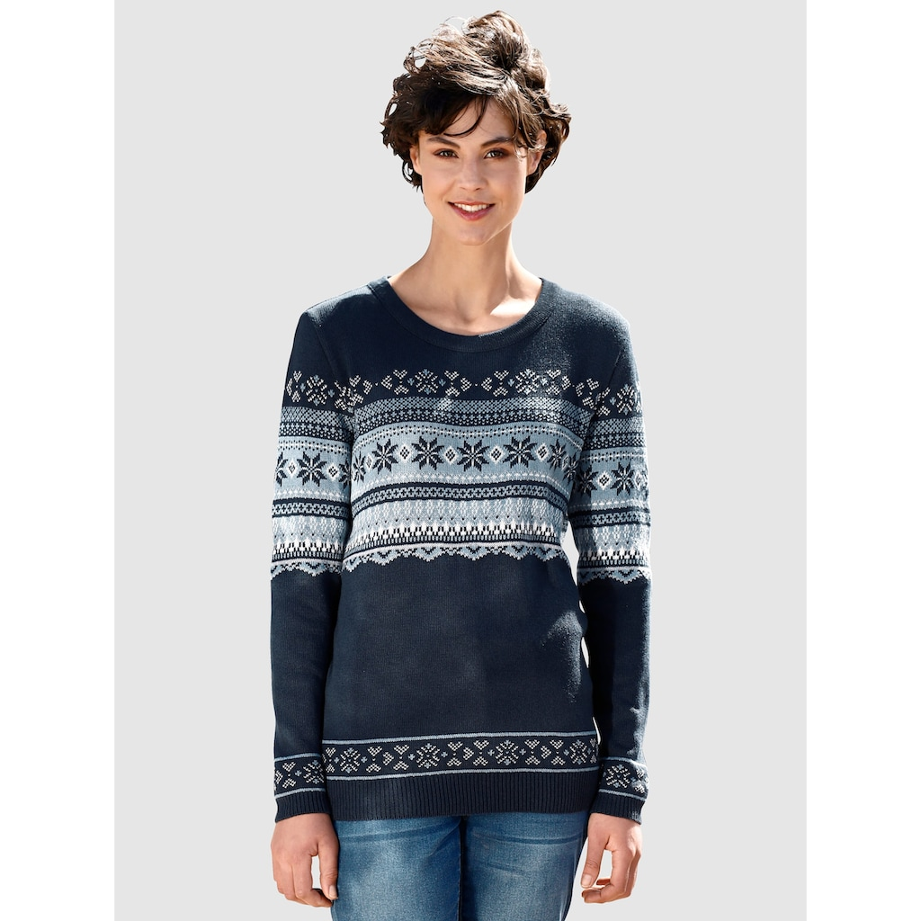Dress In Pullover mit Norwegermsuter