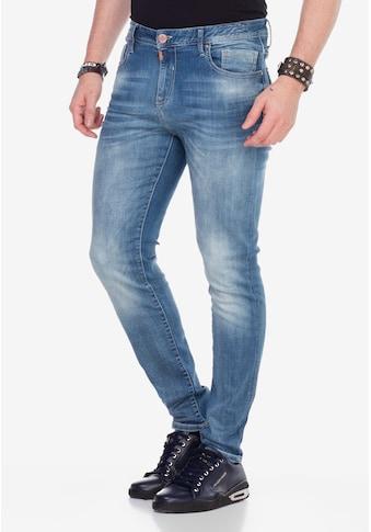 Cipo & Baxx Slim-fit-Jeans, mit verwaschenen Look kaufen