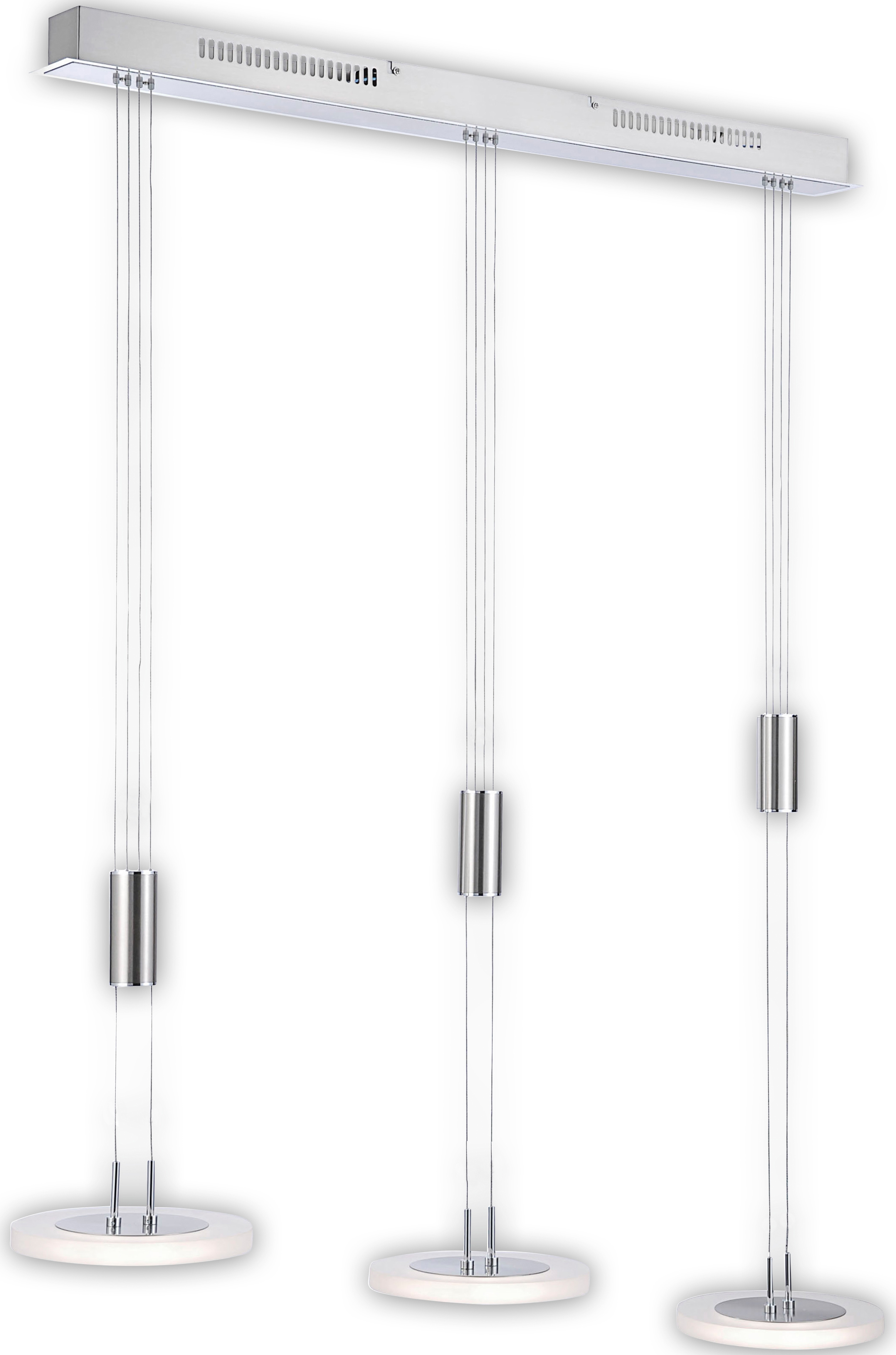 FISCHER & HONSEL LED Pendelleuchte Diskus, LED-Modul, Warmweiß