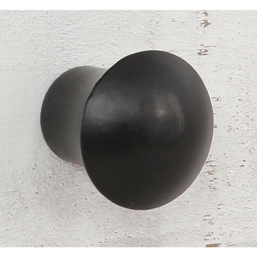 Home affaire Sideboard »Freya«, mit 2 Holztüren, 1 Glastür, Metallgriffen, aus Massivholz, Breite 130 cm