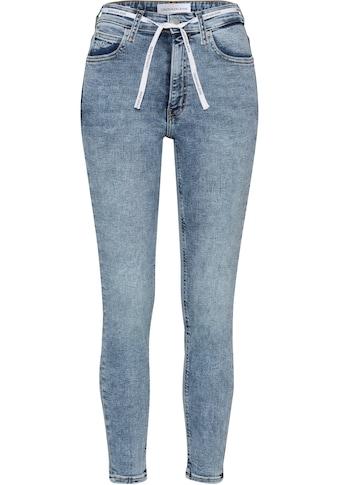 Calvin Klein Jeans Skinny-fit-Jeans »HIGH RISE SKINNY ANKLE«, mit Calvin Klein Jeans Stickerei am Hosensaum und Calvin Klein Jeans Schnürsenkel am Bund kaufen