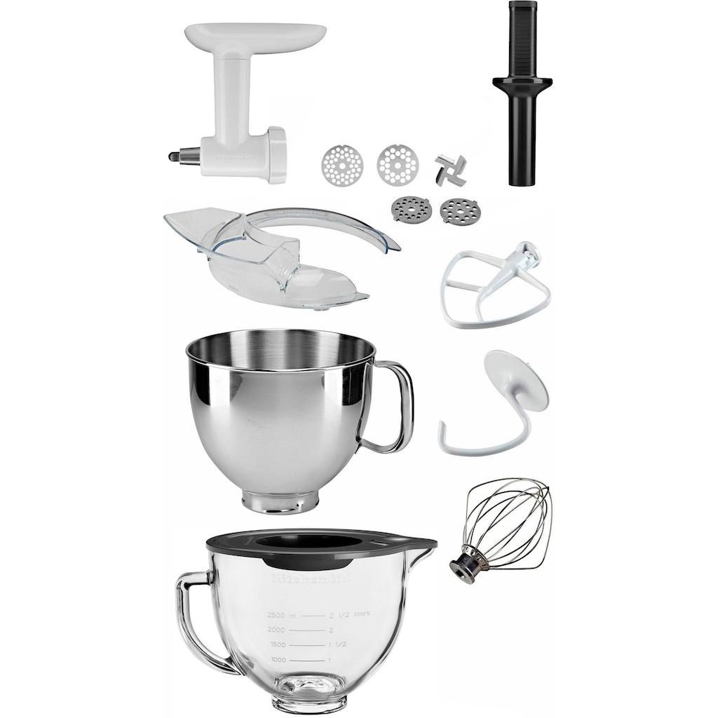 KitchenAid Küchenmaschine »Artisan 5KSM150EBZ«, 300 W, 4,8 l Schüssel, inkl. Sonderzubehör im Wert von ca. 218,-€ UVP