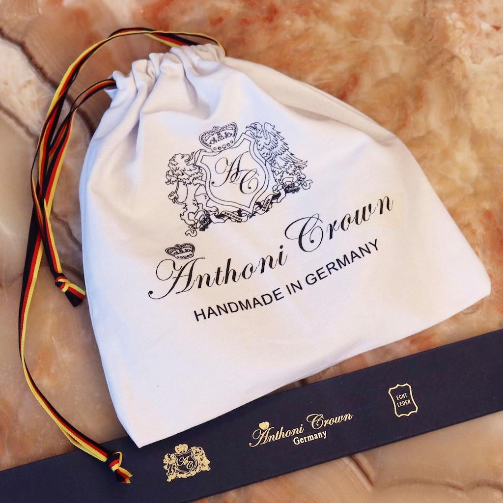 Anthoni Crown Ledergürtel, mit goldfarbener Koppelschließe
