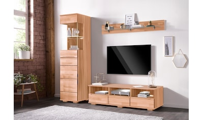 Wohnwand »Vetro«, (Set, 3 St.), teilmassives Holz kaufen