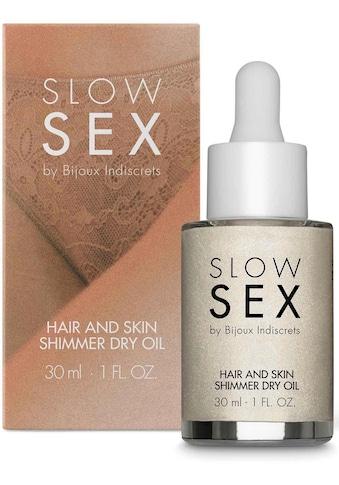 Bijoux Indiscrets Körperöl »Hair and skin shimmer dry oil- Slow Sex«, glänzendes Trockenöl kaufen
