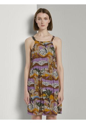 TOM TAILOR Denim Neckholderkleid »Gemustertes Neckholder Kleid« kaufen