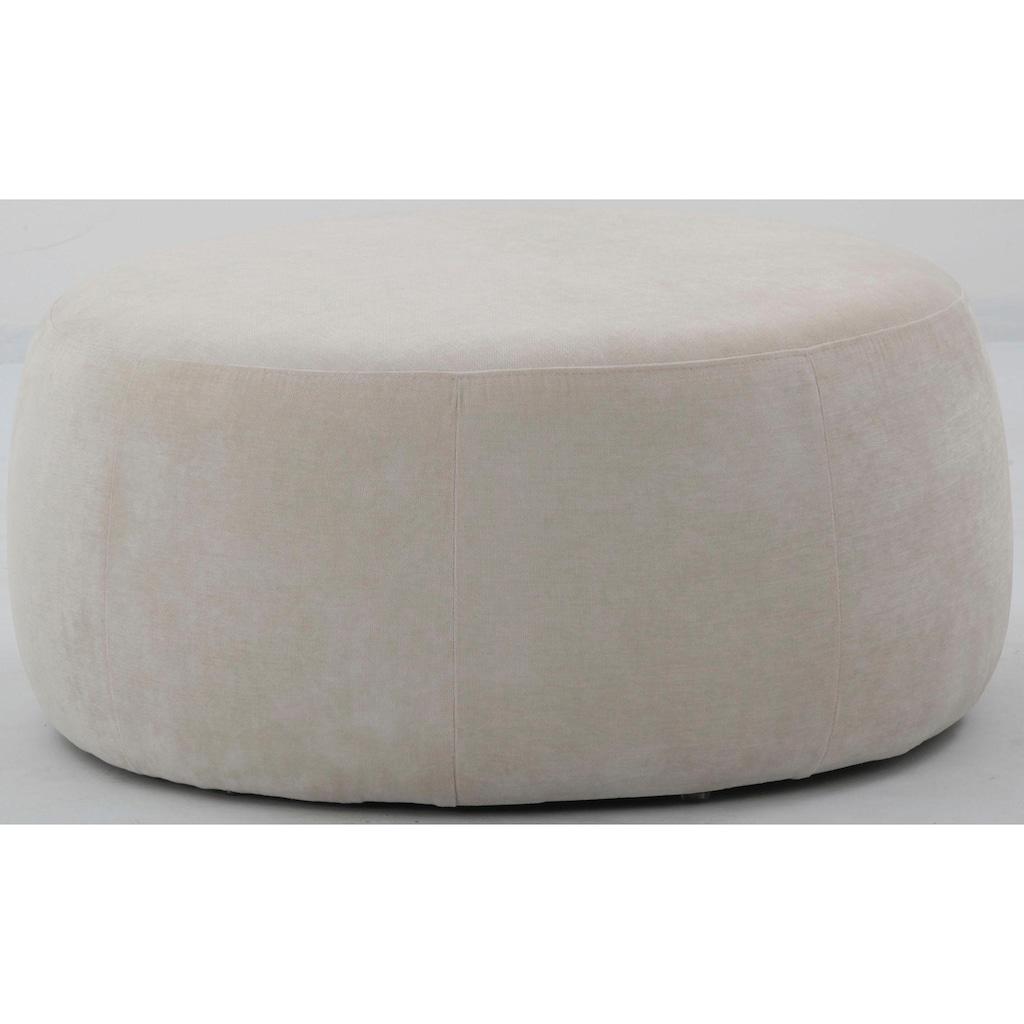 COUCH♥ Hocker »Flauschig«, in schönem Strukturstoff, COUCH Lieblingsstücke