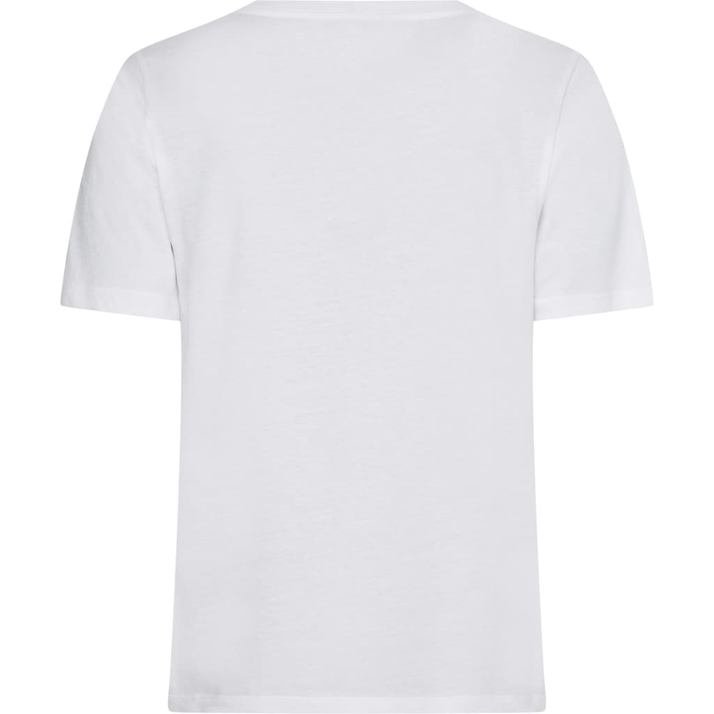 Tommy Hilfiger Rundhalsshirt »REGULAR HILF CRYSTAL C-NK TEE SS«, mit Hilfiger Schriftzug aus Glitzersteinen