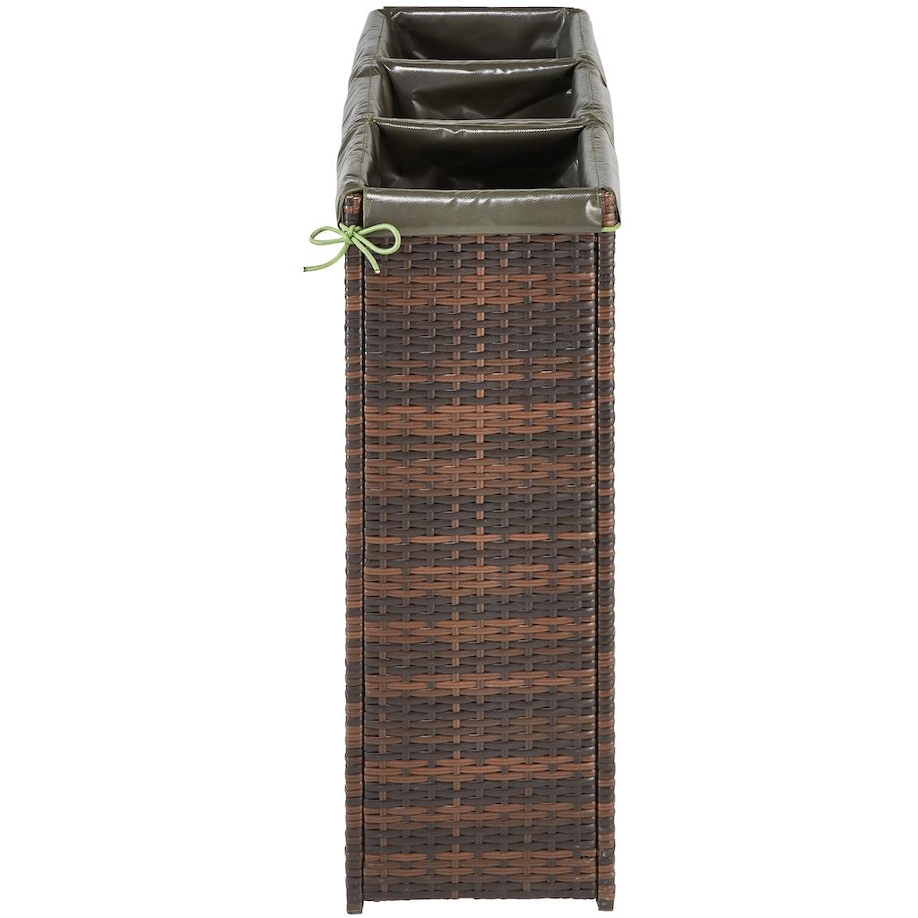 HANSE GARTENLAND Hochbeet, BxH: 100x80 cm, Rattangeflechtoptik