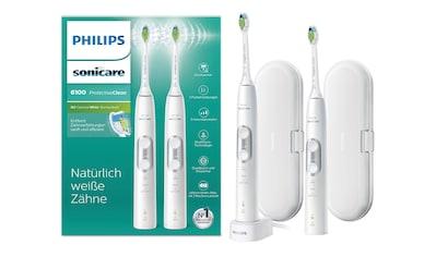 Philips Sonicare Schallzahnbürste HX6877/34 ProtectiveClean 6100, Aufsteckbürsten: 2 Stk. kaufen