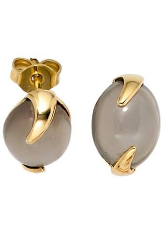 JOBO Paar Ohrstecker, 585 Gold mit Mondstein kaufen