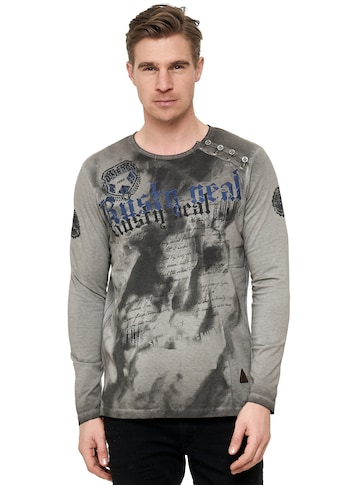 Rusty Neal Langarmshirt, mit Front-Print kaufen