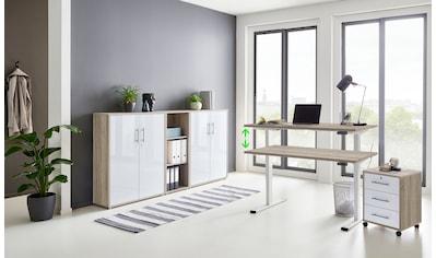 BMG Büromöbel-Set »Tabor«, (Set, 5 St.), mit elektrisch höhenverstellbarem Schreibtisch kaufen