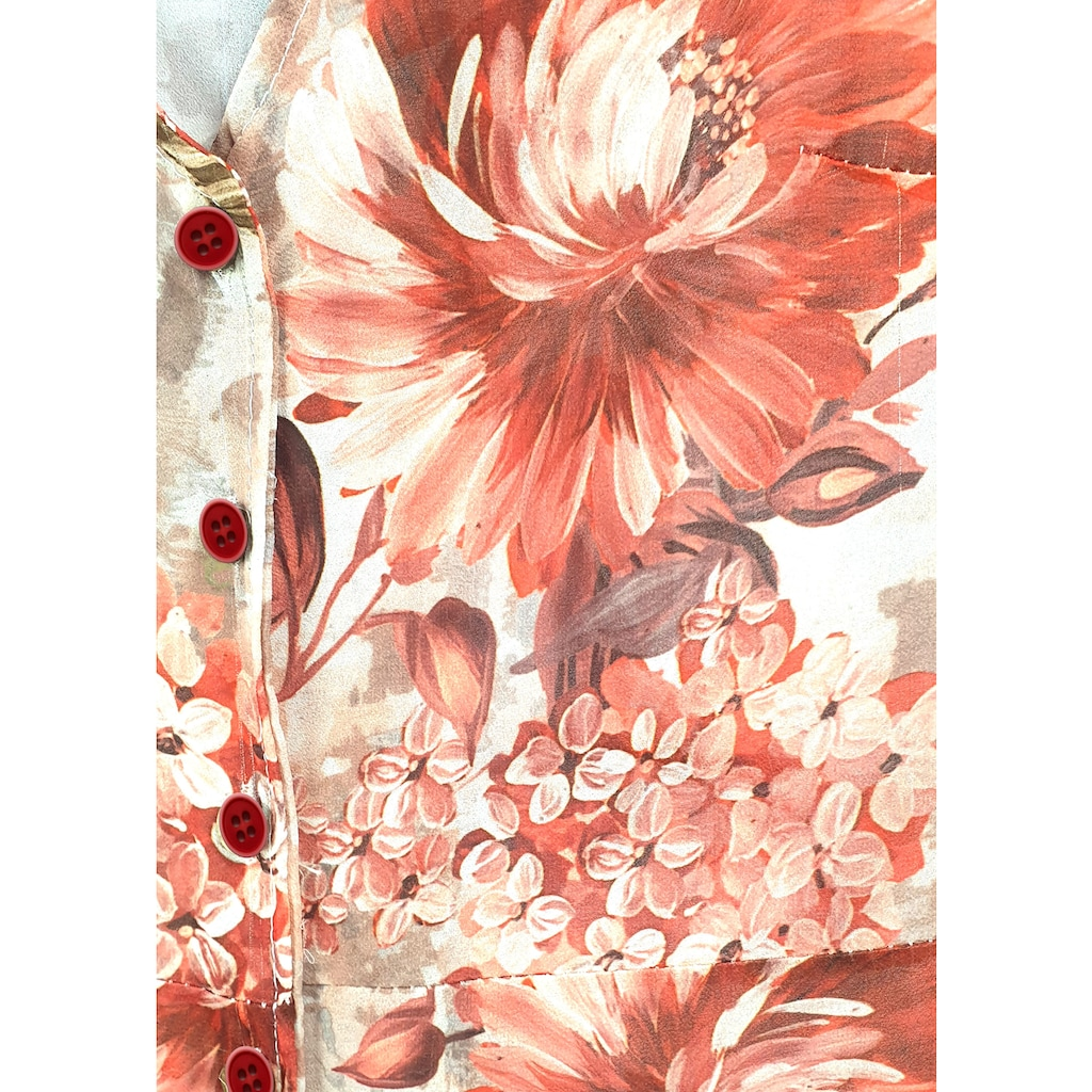 Heimatliebe Blumenkleid mit V-Ausschnitt