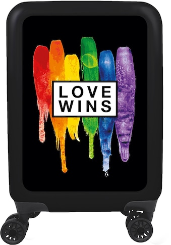meinTrolley Hartschalen-Trolley »Love wins schwarz, 77 cm«, 4 Rollen, Made in Germany kaufen