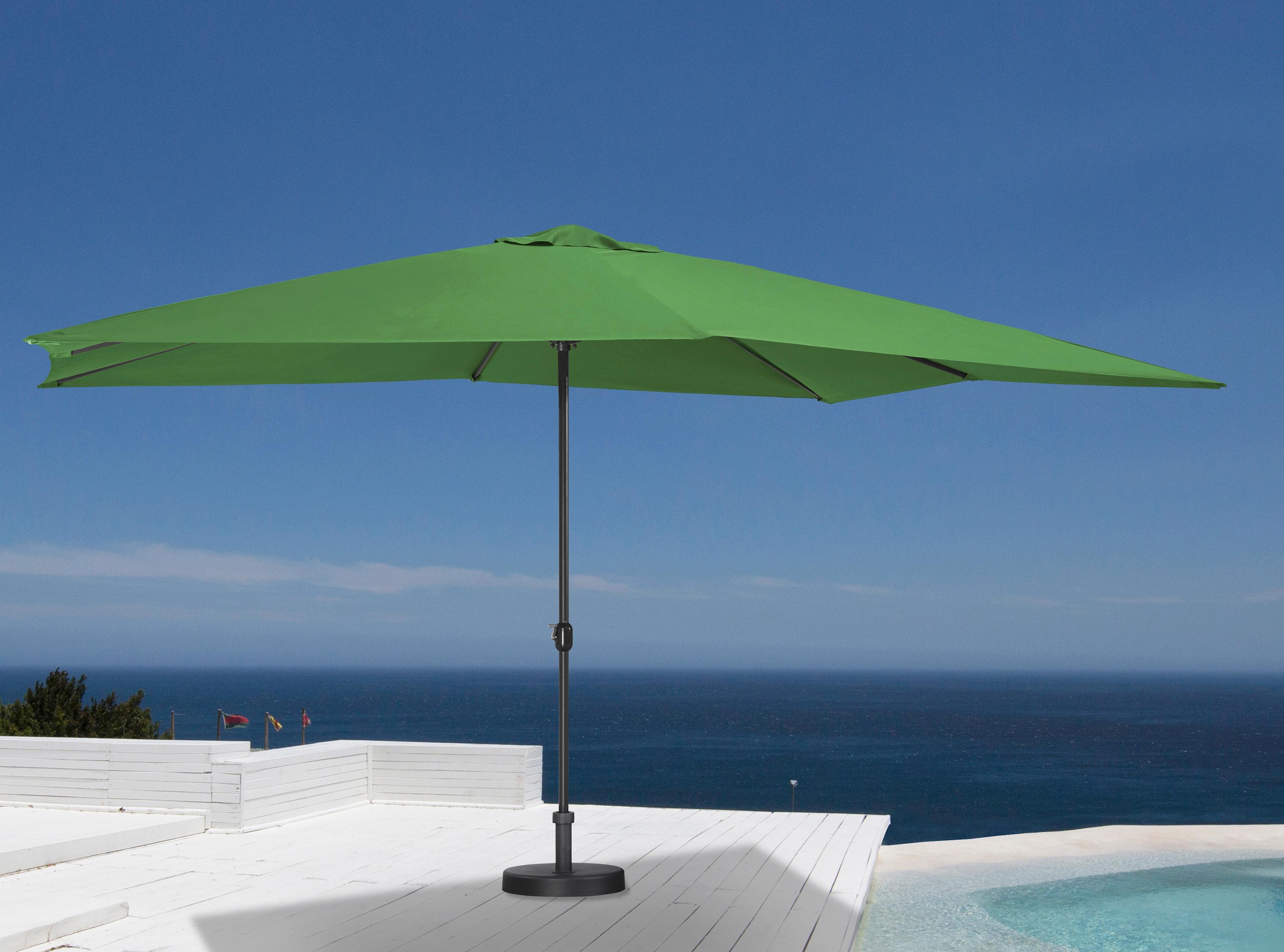 garten gut Sonnenschirm, ohne Schirmständer grün Sonnenschirme -segel Gartenmöbel Gartendeko Sonnenschirm
