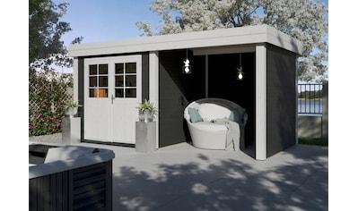 Kiehn - Holz Set: Gartenhaus »Großensee 1«, BxT: 475x228 cm, inkl. Anbaudach mit Rück -  und Seitenwand kaufen