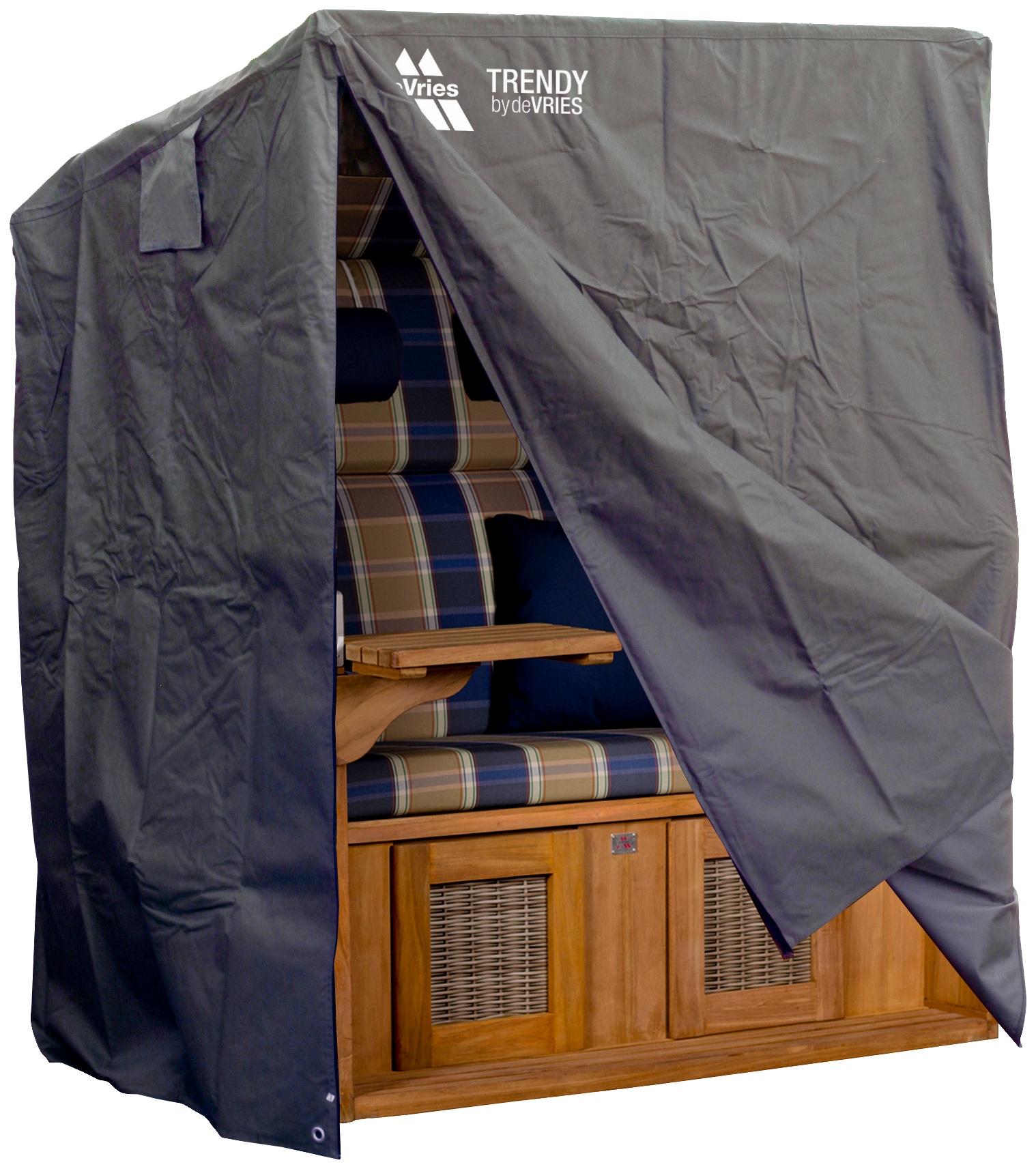deVries Schutzplane Classic Größe XL, für Strandkörbe grau Gartenmöbel-Schutzhüllen Gartenmöbel Gartendeko