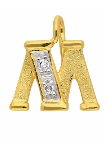 Adelia´s Buchstabenanhänger »585 Gold Buchstabenanhänger mit Diamant«, Goldschmuck für... kaufen
