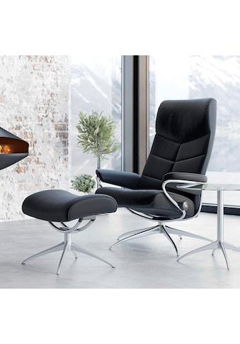 Stressless® Relaxsessel »Dublin«, mit Hocker, High Back, mit Star Base, Gestell Chrom kaufen