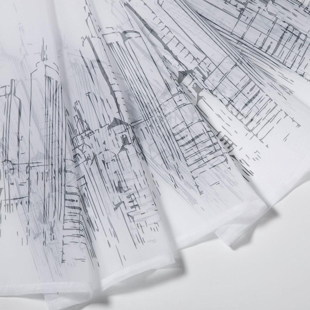 Gerster Scheibengardine »Paul«, HxB: 50x150, mit modernem Druckdesign