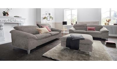 COTTA Polstergarnitur, (Set), wahlweise mit Bettfunktion, Hocker und Sofa im Set kaufen