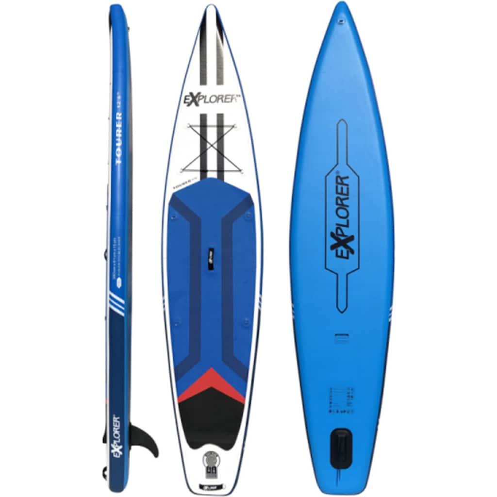 EXPLORER Inflatable SUP-Board »Tourer«, (6 tlg., mit Paddel, Pumpe und Transportrucksack)