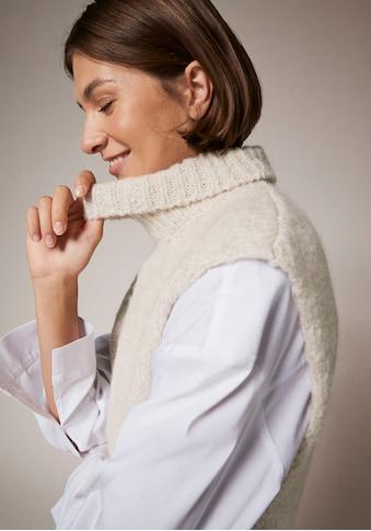 Comma Pullunder, mit Rollkragen, aus softem Materialmix mit Wolle kaufen