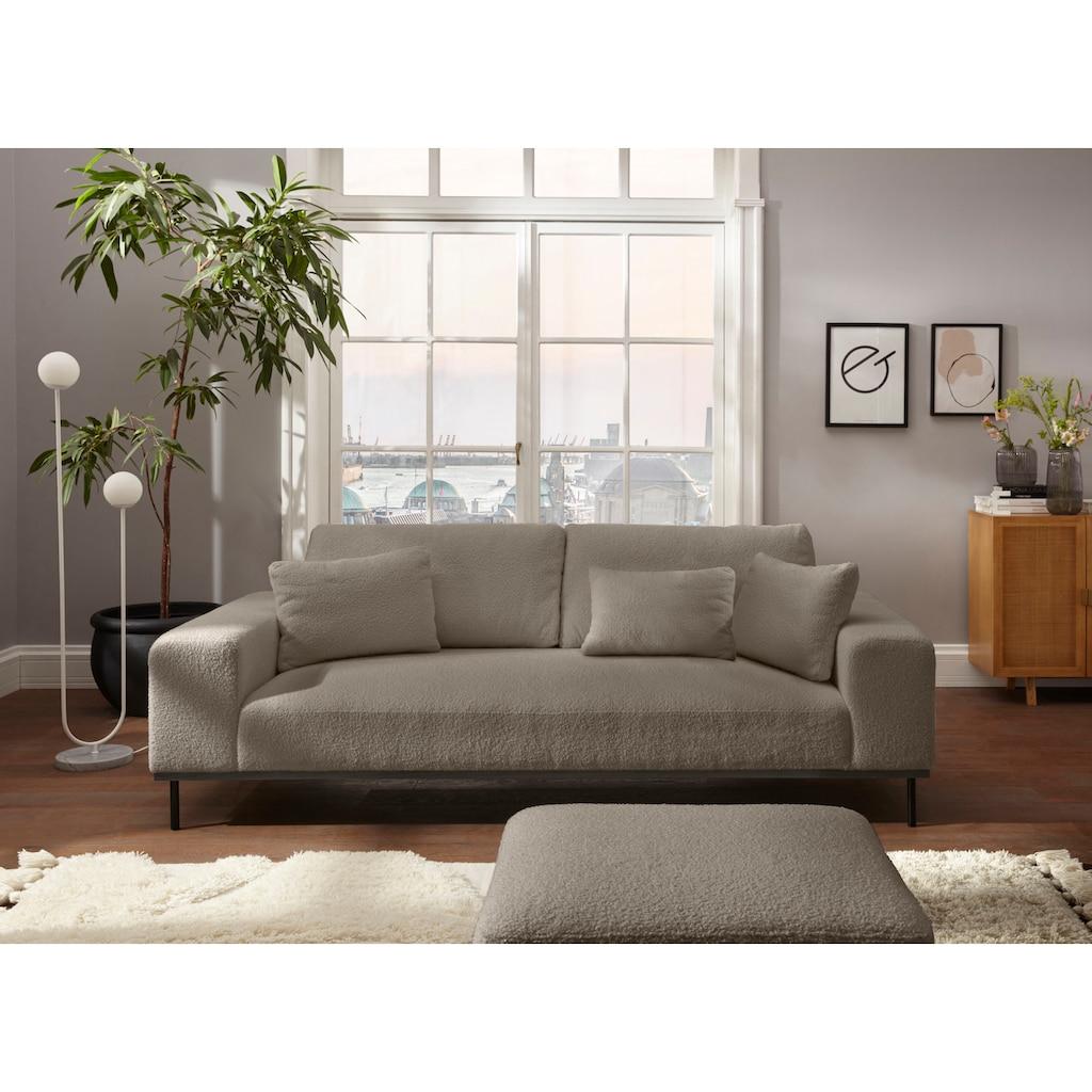 elbgestoeber 3-Sitzer »Elbpier«, mit hochwertigem, gebeiztem Holzrahmen; incl. 3 Zierkissen