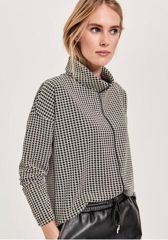 OPUS Sweatshirt »Gabina pepita«, mit kuscheligem Stehkragen kaufen