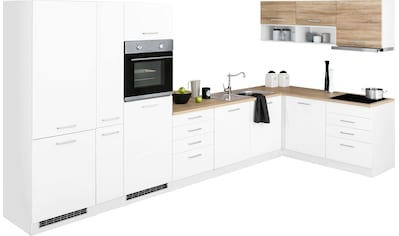 HELD MÖBEL Winkelküche »Visby«, mit E-Geräten, Stellbreite 390 x 180 cm kaufen