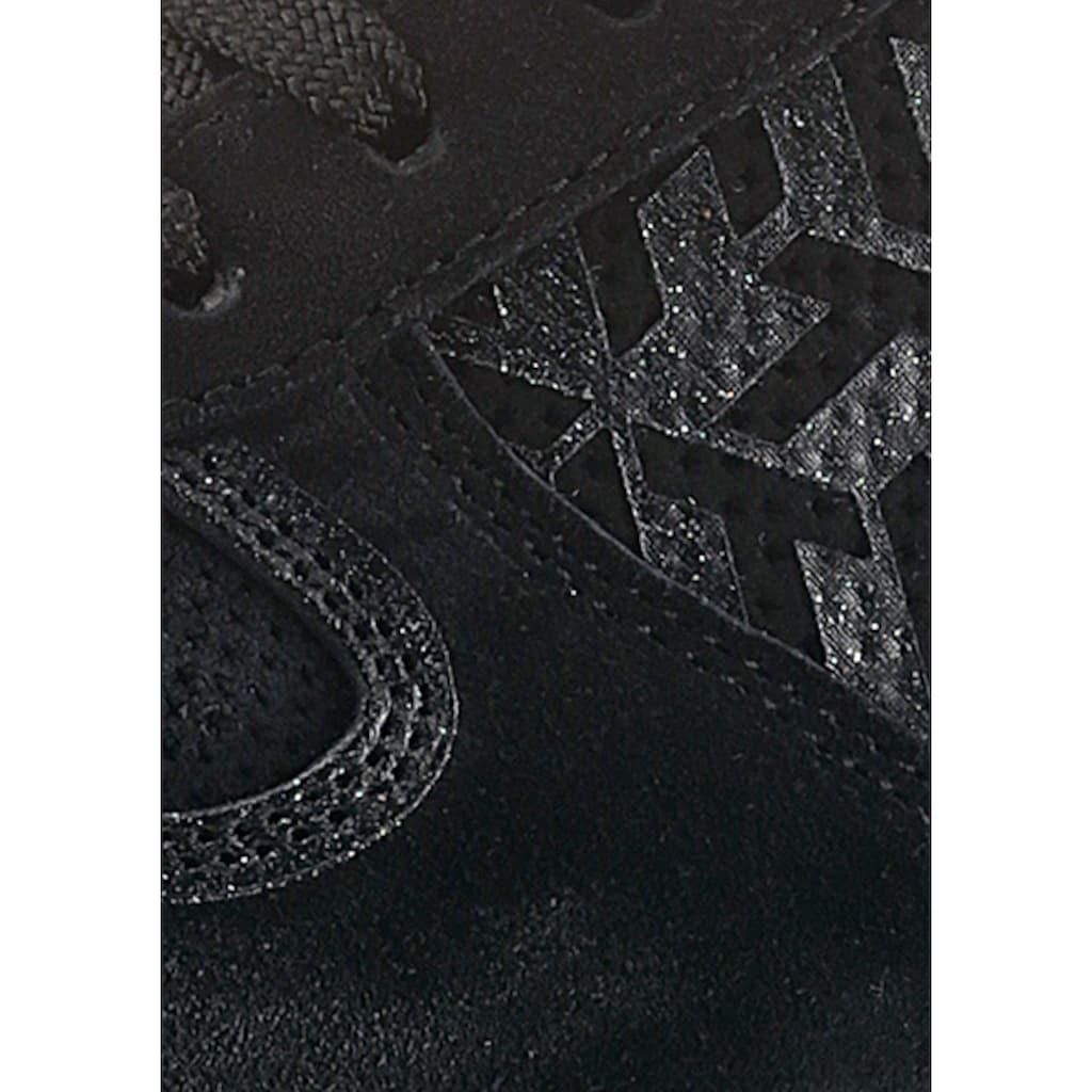 TOMMY HILFIGER Plateausneaker »TH METALLIC FLATFORM SNEAKER«, mit gedrucktem Obermaterial