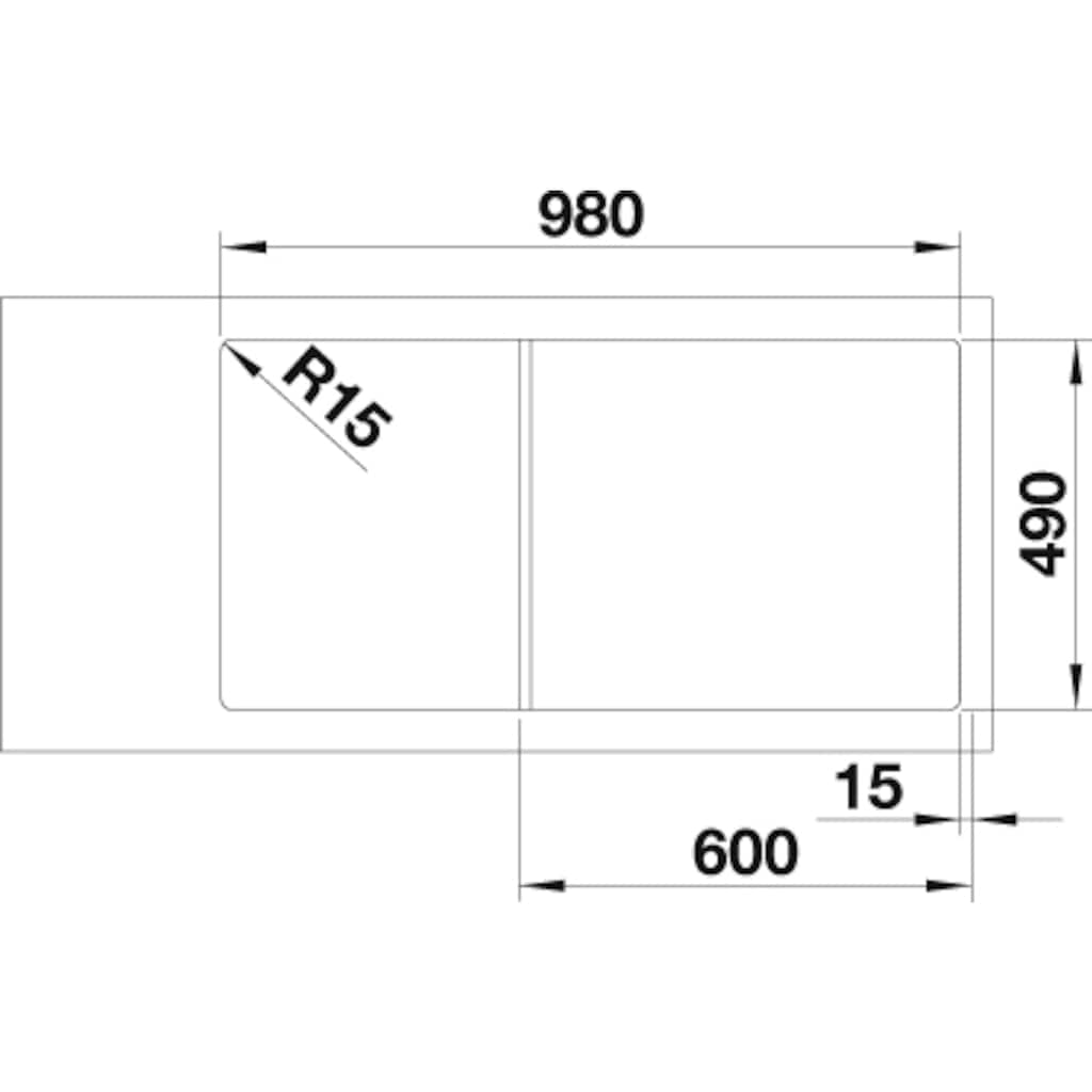 Blanco Granitspüle »AXIA III XL 6 S«, aus SILGRANIT®