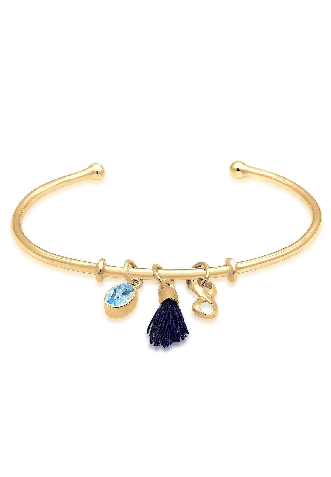 Elli Armreif Armreif Infinity Tassel Topas 925 Silber | Schmuck > Armbänder > Armreifen | Elli