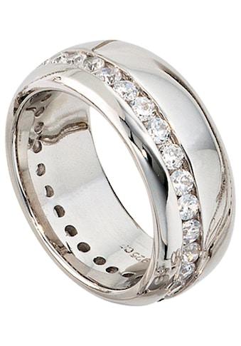 JOBO Silberring, breit 925 Silber mit Zirkonia kaufen