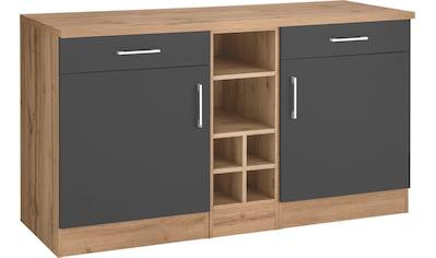 HELD MÖBEL Unterschrank »Colmar«, 150 cm breit, 2 Schubkästen, 2 Türen, 6 Fächer, für viel Stauraum, auch als Sideboard nutzbar, Metallgriffe kaufen