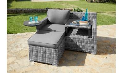 KONIFERA Loungeset »Ibiza«, 9 - tlg., 1x 2 - er Sofa, Hocker, Tisch 54x54 cm, Polyrattan kaufen