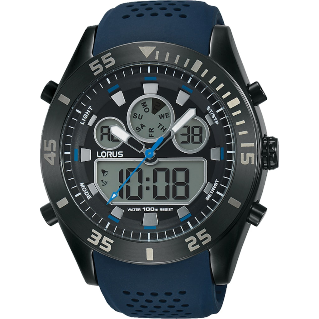 LORUS Chronograph »Lorus Sport Chronograph analog digital, R2337LX9«