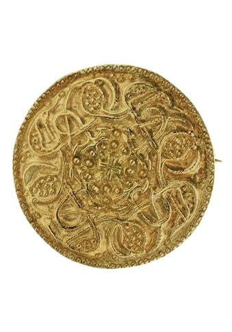 OSTSEE-SCHMUCK Brosche »- Hiddensee 26 mm rund - Silber 925/000, vergoldet -,« kaufen