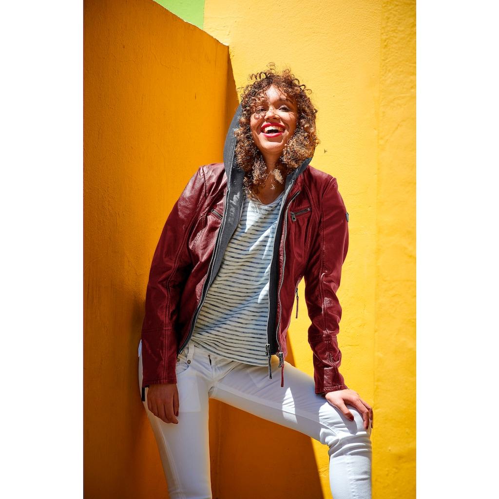 Gipsy Lederjacke »NOLA«, Two-in-One Style - mit abnehmbarer Jersey-Kapuze